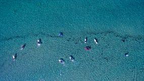 Surfers άνωθεν στοκ φωτογραφίες με δικαίωμα ελεύθερης χρήσης