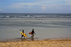 Surfers Royalty Free Stock Photo