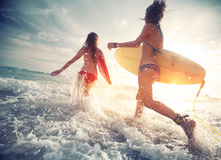 Surfers Photographie stock