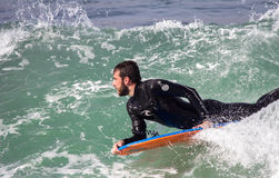 Surfers in action Royalty Free Stock Photography