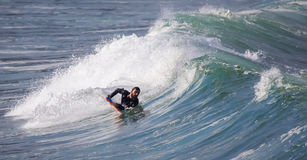Surfers in action Royalty Free Stock Images