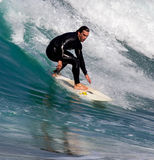 Surfers in action Royalty Free Stock Photos