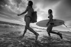 Surfers avec des conseils Photos stock