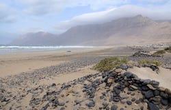 Surfers beach on Lanzarote Stock Photo