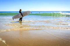 Surfers on Beliche Beach, Sagres, Algarve, Portugal Stock Photography