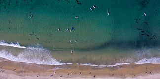 Surfers d'en haut Photo stock