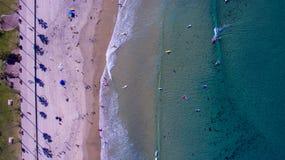 Surfers d'en haut Photographie stock