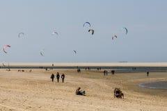 Surfers de cerf-volant Image stock