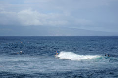 Surfing at Ho'okipa Royalty Free Stock Photo