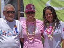 Surfers hawaïens heureux Photographie stock