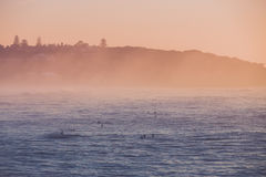 Surfers het wachten Royalty-vrije Stock Fotografie