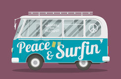 Surfers hippie van Royalty Free Stock Photos