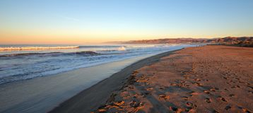 Surfers Knoll beach with tidal erosion at Ventura California USA. Surfers Knoll beach with tidal erosion at Ventura California United States royalty free stock images