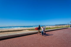 Surfers Walking Waves Sea Stock Images