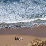 Surfers op het strand Royalty-vrije Stock Foto