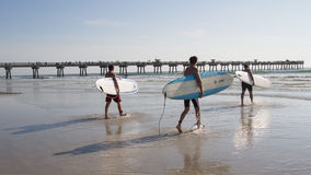 Surfers Paddle Boad Event Royalty Free Stock Image