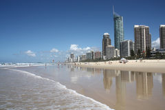 Surfers Paradise. Waterfront skyline with famous Q1 skyscraper - Surfers Paradise city in Gold Coast region of Queensland, Australia Stock Images