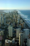 Surfers Paradise. View of Surfers Paradise from Q1 observation deck(tallest residential apartment in the world),Gold Coast, Australia Royalty Free Stock Photo