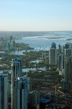 Surfers Paradise. View of Surfers Paradise from Q1 observation deck(tallest residential apartment in the world),Gold Coast, Australia Stock Images