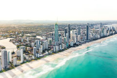 SURFERS PARADISE, AUS - SEPT 04 2016 Aerial view of Surfers Para Stock Image