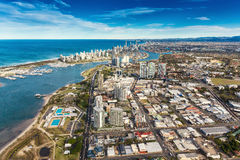 SURFERS PARADISE, AUS - SEPT 04 2016 Aerial view of Surfers Para Royalty Free Stock Photos
