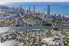 Surfers Paradise Australia. Aerial view of Surfers Paradise, Queensland, Australia Stock Images