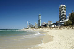 Surfer paradise beach on Gold Coast Stock Photography
