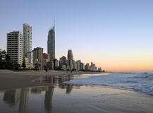 Surfers Paradise Beach Royalty Free Stock Photos