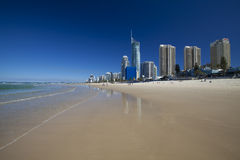 Surfers Paradise Beach on the Gold Coast Stock Image