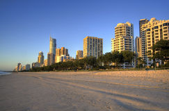Surfers Paradise Beach Sunrise Stock Photos