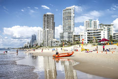 Surfers Paradise beachfront, Gold Coast, Australia Stock Photography