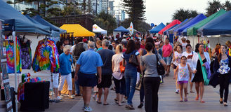 Surfers Paradise Beachfront Markets - Australia Royalty Free Stock Images