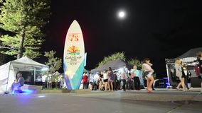 Surfers Paradise Beachfront Markets Gold Coast Australia stock video