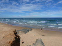 Surfers paradise. Exploring beauty of Portuguese coast line stock photo