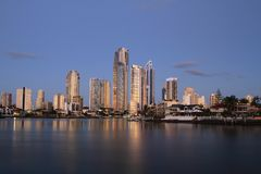 Surfers Paradise, Gold Coast Sunset royalty free stock photo