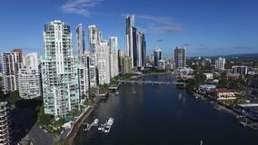 Surfers Paradise high rise accommodation stock video