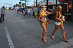 Surfers Paradise Meter Maids in Gold Coast Australia Royalty Free Stock Photo