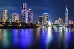 Surfers paradise at night Stock Photo