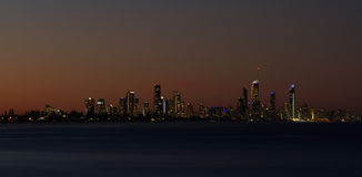 Surfers Paradise at night Stock Images