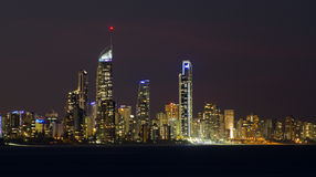 Surfers Paradise at night Royalty Free Stock Photography