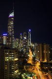 Surfers Paradise nightscape Stock Photo