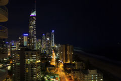 Surfers Paradise nightscape Stock Photography