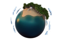 Surfers paradise planet Stock Image