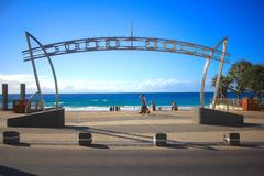 Surfers Paradise, Qld, Gold Coast. Yes it is a Surfers Paradise. Taken at Surfers Paradise, Queensland, Australia . Amazing view. You guys need to come here Stock Photo