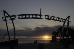 Surfers paradise sign. Gold coast surfers paradise sign at sunrise Royalty Free Stock Photography