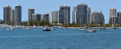 Surfers Paradise Skyline - Gold Coast Queensland Australia Royalty Free Stock Photos