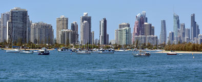 Surfers Paradise Skyline - Gold Coast Queensland Australia Royalty Free Stock Image