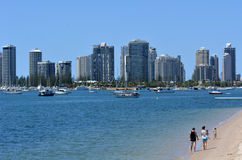 Surfers Paradise Skyline - Gold Coast Queensland Australia Stock Photography
