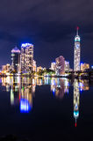 Surfers Paradise Skyline at night Stock Photography