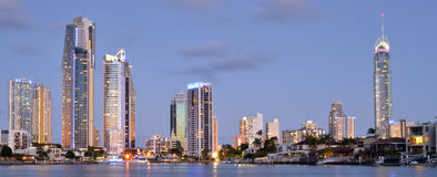 Surfers Paradise Skyline -Queensland Australia stock photography